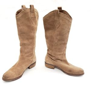 Sam Edelman Suede High Pull on Boots Size 8.5 M